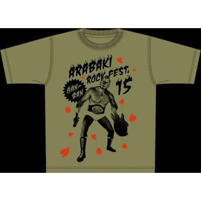 ARABAKI ROCK FEST.15×岩盤 アラハバキマスク Tシャツ